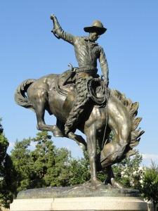 Pixabay: Denver Colorado Statue Monument Cowboy Horse Sky