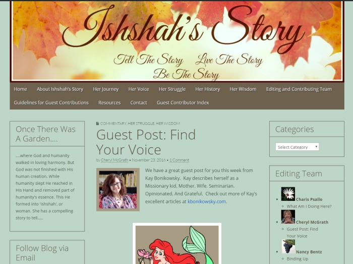 Guest Posting at Ishshah's Story